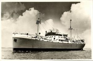 Orange Line Steamer M.S. Prins Frederik Willem (1950s) RPPC