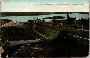 Halifax Harbor from Citadel George's Island Canada Postcard unused 1900s/10s