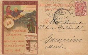 Onoranze Centenaria Paolo Toscanelli 1898 04.28