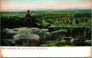 1900s Tuck's Postcard Gettysburg PA General Warren Statue Little Round Top UNP