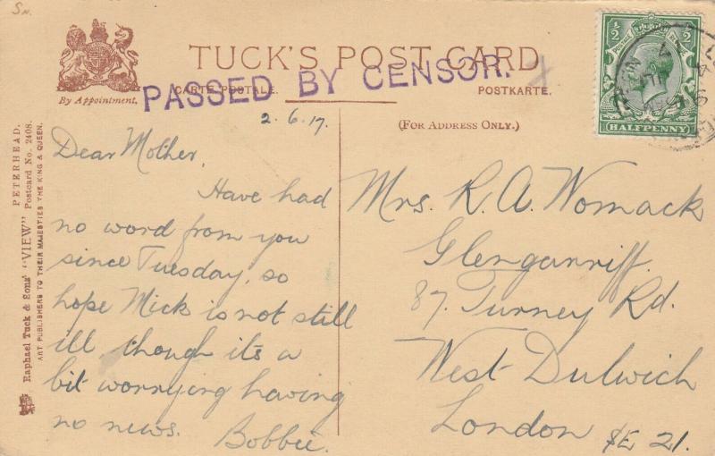 PETERHEAD , Scotland , PU-1917 : Ravenscraig Castle;  TUCK 2408