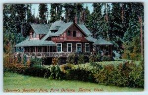 TACOMA, Washington WA ~ LODGE Beautiful POINT DEFIANCE PARK c1900s UDB  Postcard