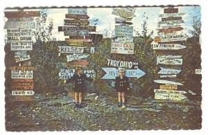 Multiple sign post of Watson Lake, Yukon,   40-60s