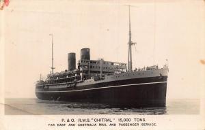 P. & O. RMS Chitral ship Postcard
