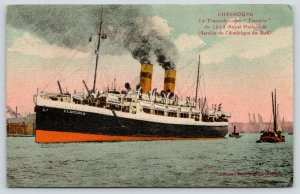 Cherbourg France~Flandria Steamer Transatlantique~du Lloyd Royal Hollandais~1927