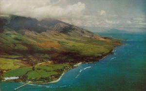 Hawaii Maui Coastal Aerial View Of Lahaina