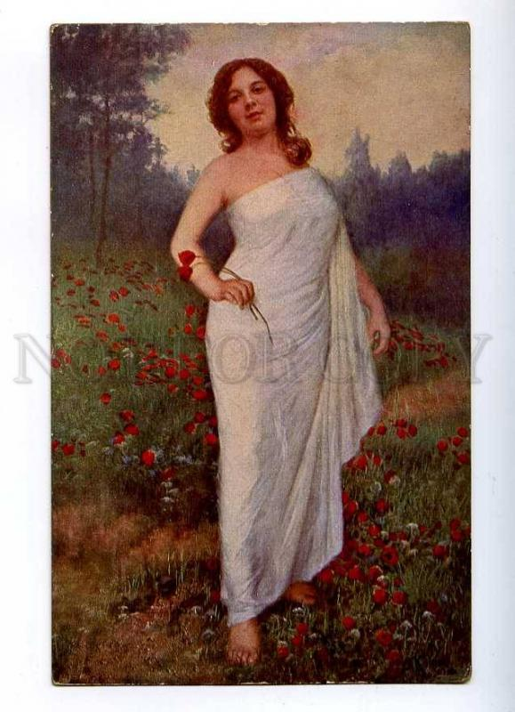 187141 Summer NYMPH in POPPY by KLIMES Vintage PC