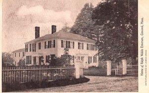 Home of Ralph Waldo Emerson Concord, Massachusetts Postcard
