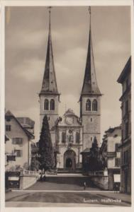 Switzerland Luzern Hofkirche Real Photo