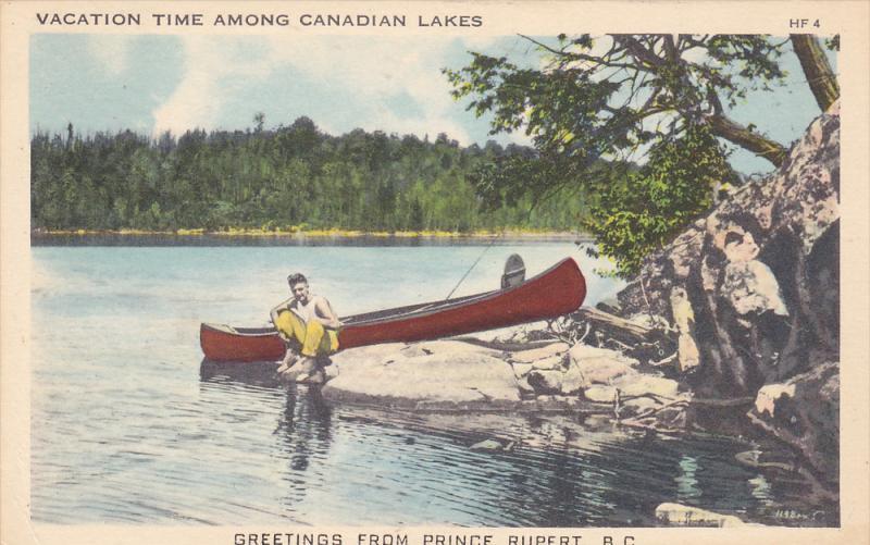 Fishing Boat, Greetings From Prince Rupert, British Columbia, Canada, PU-1951
