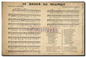Old Postcard The Kiss of the regiment Delormel