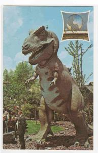 Tyrannosaurus Rex Dinosaur New York Worlds Fair postcard