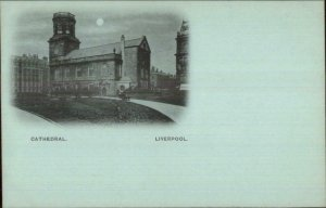 Liverpool England Early 1890s Smaller Format Postcard CATHEDRAL