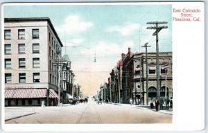 PASADENA, California  CA   EAST COLORADO STREET Scene  ca 1907 Rieder  Postcard
