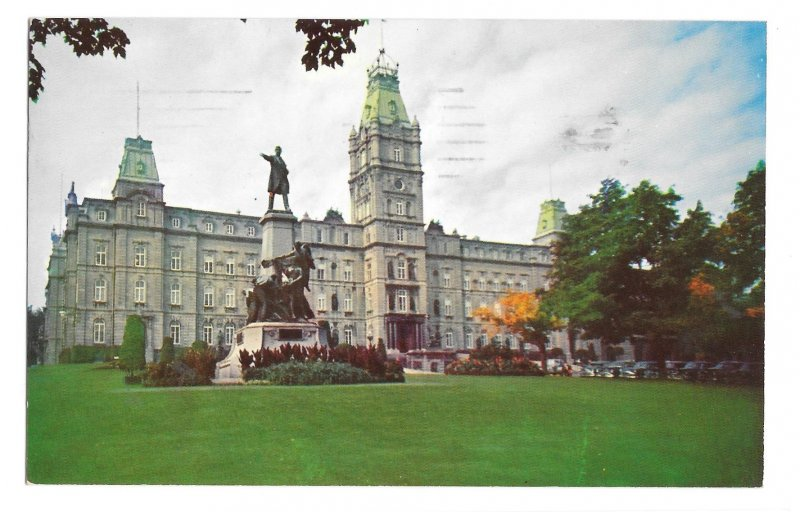 Quebec Canada Le Parlement Parliament Building Vntg S J Haywawrd Photo Postcard