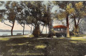 Cazenovia New York~Boat House w/Clay Tile Roofs @ Lakewood Park c1910