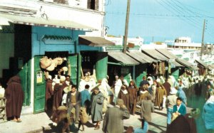 Morocco Tanger Entrance to the Large Market Zoco Tangier Vintage RPPC 07.32