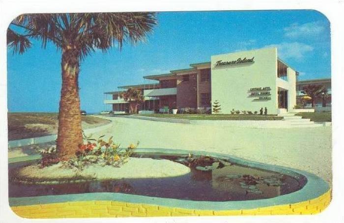 Treasure Island Beach Colony Daytona Florida 1940 1960s