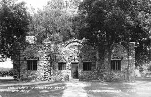 Fairbury Nebraska~City Park~Girl Scouts Community House~Stone Chimney~1940s RPPC