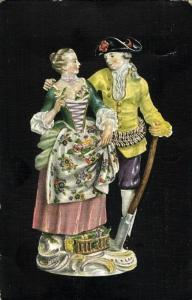 Dresden China, Meissner Porcelain, Porcelaine de Saxe (1910s) Postcard (1)