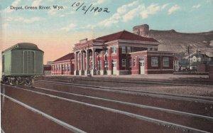 GREEN RIVER , Wyoming , 1900-10s ; Railroad Train Depot