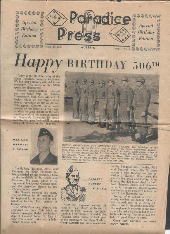 Paradise Press-Special Birthday Edition Newspaper of July...