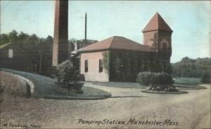 Manchester MA Pumping Station c1910 Postcard