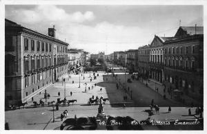 Italy Bari Corso Vittorio Emanuele Statue Street Cars Promenade
