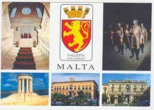 Valletta, MALTA, 70-80s 5-view postcard