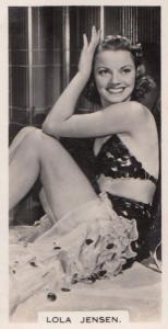 Lola Jenson Hollywood Actress Rare Real Photo Cigarette Card
