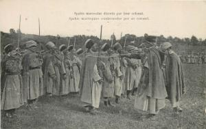 North Africa french light infantry ZOUAVES moroccan spahi decorated by colonel