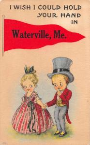 Waterville Maine Greetings Children Antique Postcard J78180