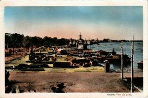 CPA AK INDOCHINA Saigon Vue du port VIETNAM (956841)