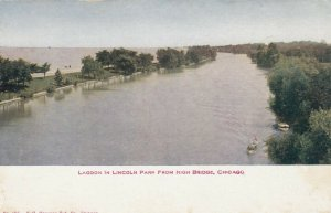 CHICAGO, Illinois, 1900-10s; Lagoon in Lincoln Park from High Bridge