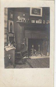 RP: WILLIMANTIC , Connecticut , 1914 ; home Interior