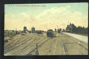 MOOSE JAW SASKATCHEWAN CPR RAILROAD DEPOT TRAIN STATION VINTAGE POSTCARD
