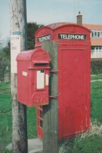 Butterwick Yorkshire Letterbox Royal Mail Post Telephone Box Postcard