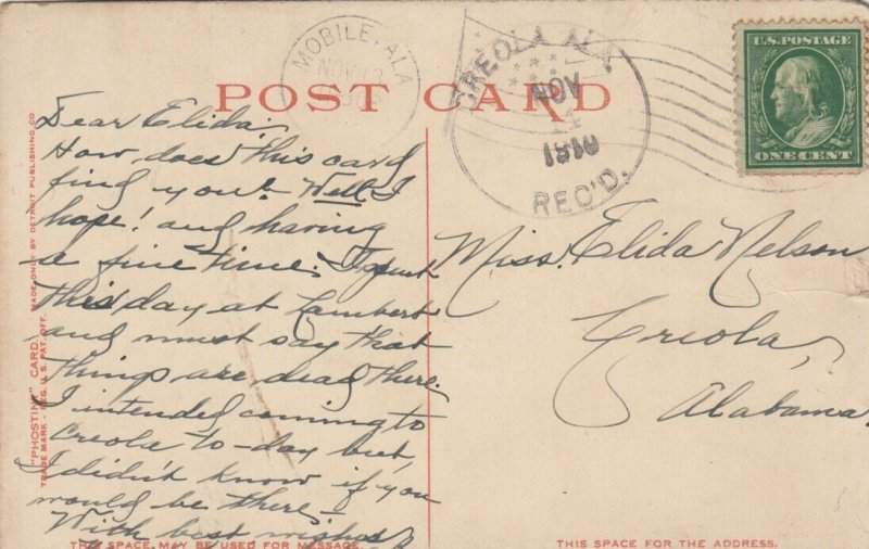 BILOXI, Mississippi, PU-1910; Beauvoir, Home of Jefferson Davis