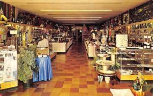 Mackinaw City Michigan~Miller's Restaurant & Gift Room~Shop Interior~1960s PC