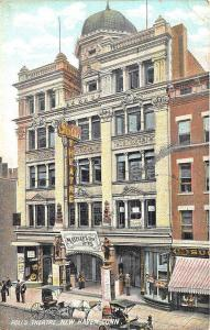 New Haven CT Poli's Theatre in 1908 Horse & Wagons Postcard