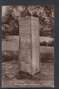 Hampshire Postcard - The Rufus Stone, New Forest  - HP16
