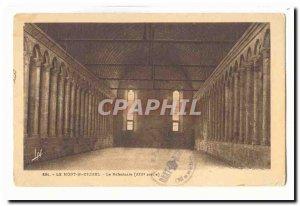 Le Mont Saint Michel Old Postcard The refectory (13th)