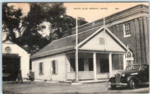 NORWAY, Maine ME  WEARY CLUB  1953  Oxford County Postcard