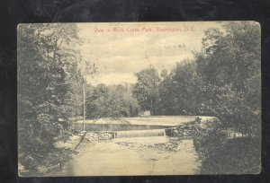 WASHINGTON D.C. ROCK CREEK PARK BRIDGE VINTAGE POSTCARD DC 1909
