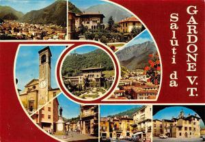 Italy Saluti da Gardone multiviews Eglise Church Statue Hotel Pension Cars Auto