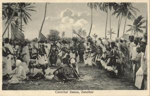 tanzania, ZANZIBAR, Native Cannibal Dance (1910s)