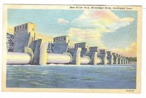 New Roller Dam, Mississippi River, Davenport, Iowa, 1930-1940s