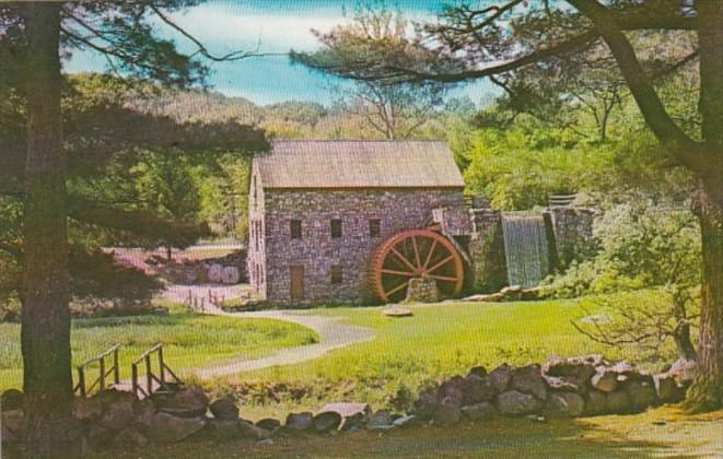 Massachusetts Sudbury Early Grist Mill