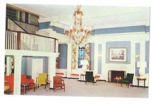 Bedford Spings Hotel Bedford PA Lobby Pennsylvania Postcard