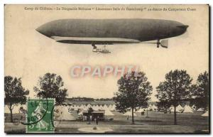 Old Postcard Jet Aviation Zeppelin Airship Camp Chalons Lieutenant Beauchamp ...